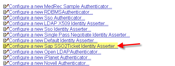 WebLogic authenticator configuration