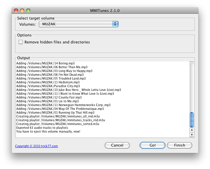 MMITunes: Create playlists for your Audi MMI/RNS-E on the Mac