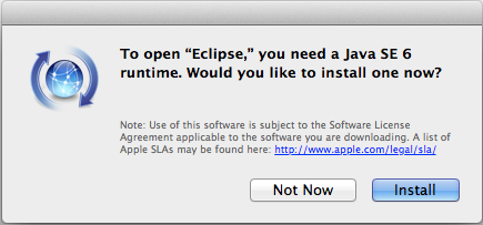 Running Java applications on OS X with only Java 7 installed